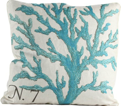 Blue Branch Coral III Pillow