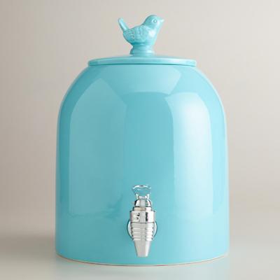 Aqua Bird Ceramic Drink Dispenser