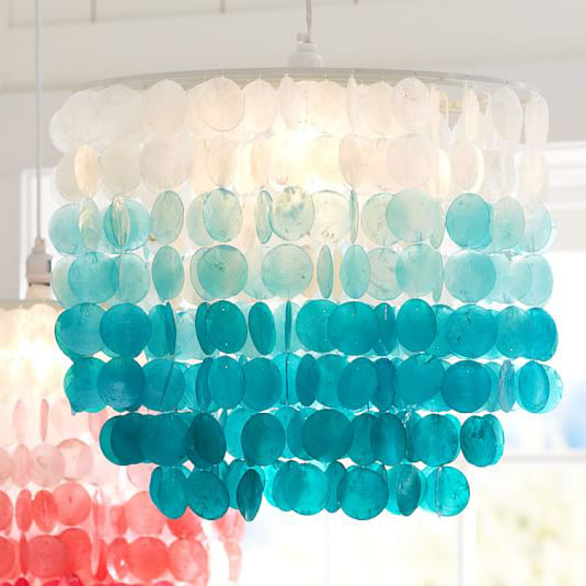turquoise lighting wavy turquoise ombre capiz chandelier chandeliers everything