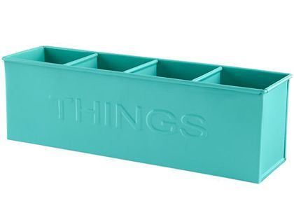 Aqua Iron Things Bin