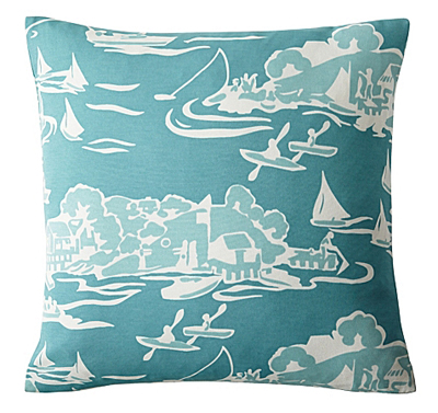 Skylake Toile Outdoor Pillow