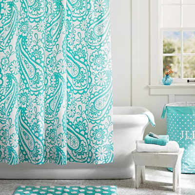 Garden Paisley Shower Curtain | Everything Turquoise