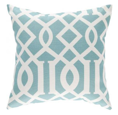 Soft Teal East Village Indoor/Outdoor Pillow