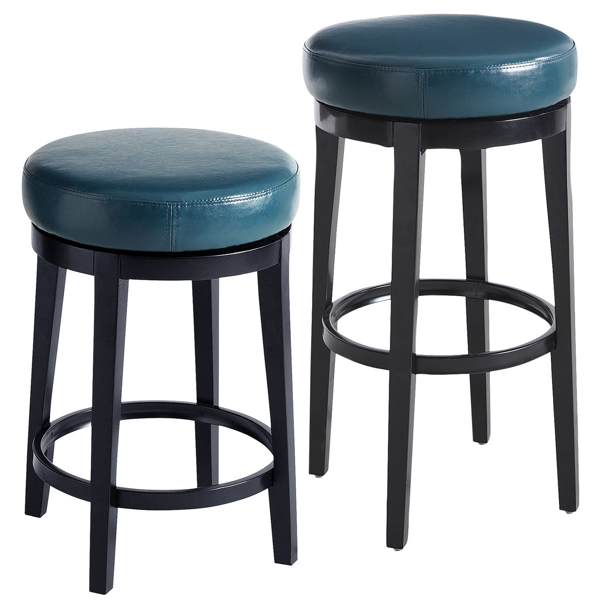 Stratmoor Teal Swivel Bar Counter Stool Everything Turquoise