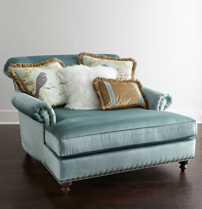 Massoud Stella Oversized Chair Everything Turquoise