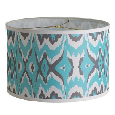Young House Love Triple Tone Ikat Drum Shade