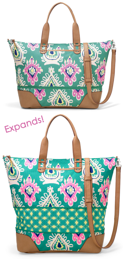 Ikat Zip Closure Weekender Bag