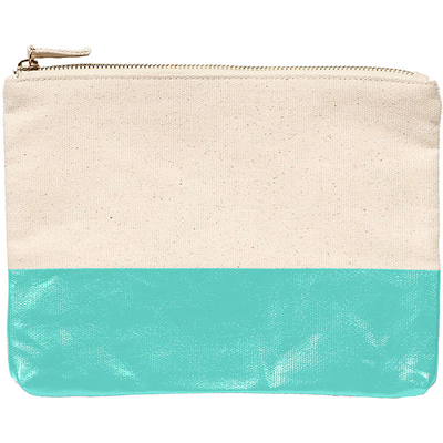 Turquoise Colorblock Pouch