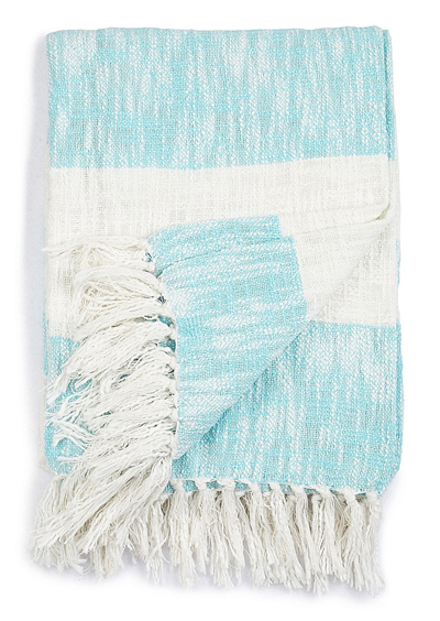 Aqua Cabana Stripe Throw