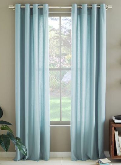 Cotton Canvas Grommet Curtain