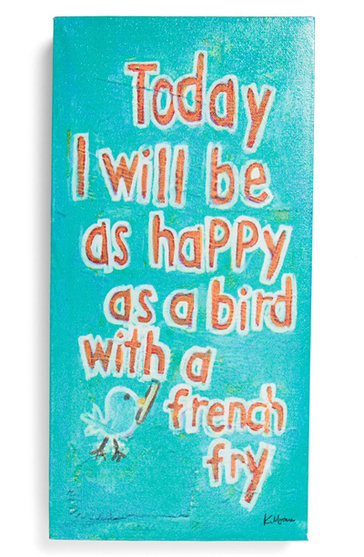 'Happy as a Bird' Wall Art
