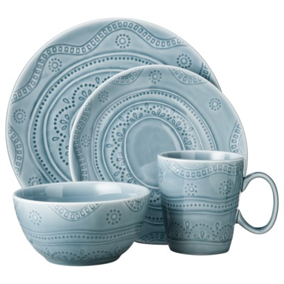 16 Piece Kennet Azure Dinnerware Set