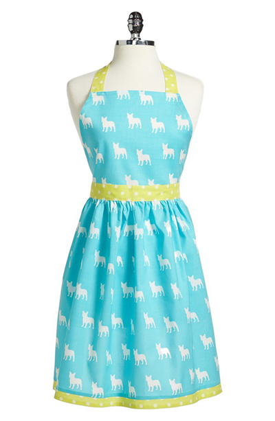 Dog Print Cotton Apron