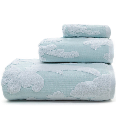 Floral Sculpted Bath Towels