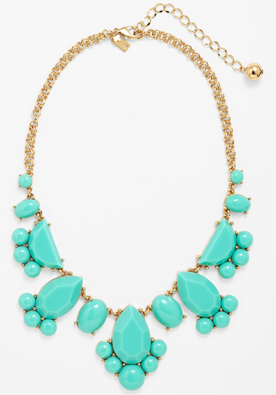 Kate Spade Day Tripper Stone Bib Necklace