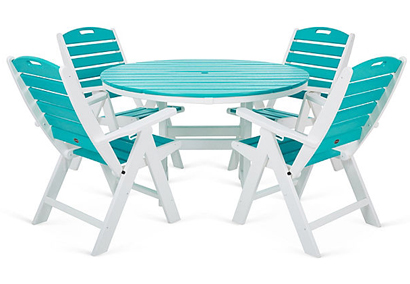 Nautical 5-Piece Dining Set in Aruba