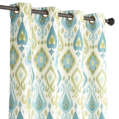Blue Green Ikat Curtain Everything Turquoise