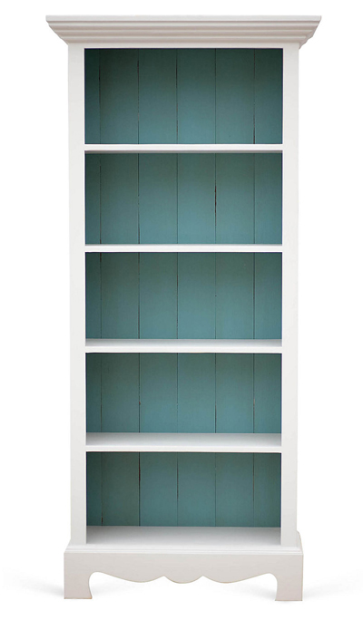 Gray and Turquoise Beach House Bookcase   Everything Turquoise