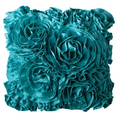 Decorative Pillows In Turquoise : Jersey Ruffle Decorative Pillow Everything Turquoise