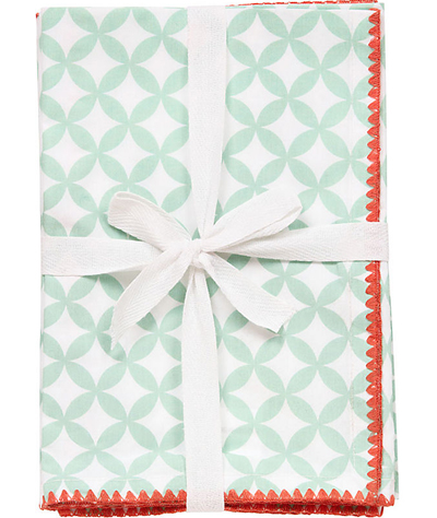 Mint Patterned Napkins