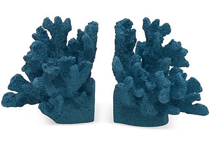 Pair of Coral Bookends