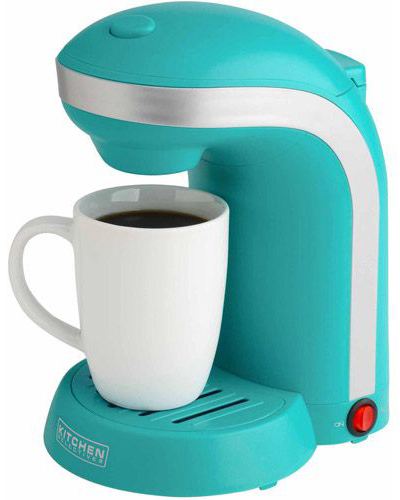 Turquoise Single Drip Coffee Maker with Mug