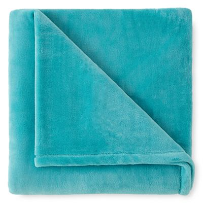 Velvet Plush Turquoise Cove Throw