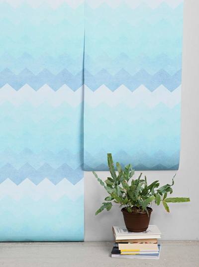 Blue Chevron Removable Wallpaper