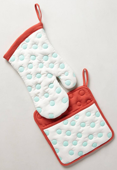 Polka Dotted Potholders