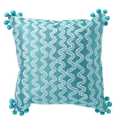 Teal Pixie Stix Pillow