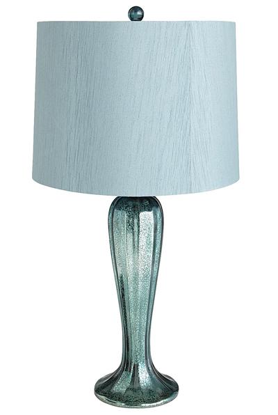Teal Shimmering Glass Lamp