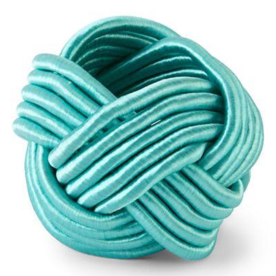 Turquoise Braided Napkin Rings
