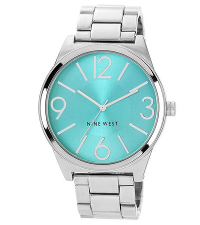 Silver Metal Turquoise Watch