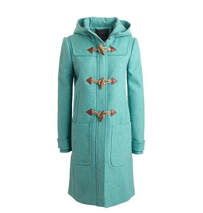 Turquoise Toggle Coat