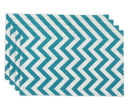 Zig Zag Turquoise Lined Placemat