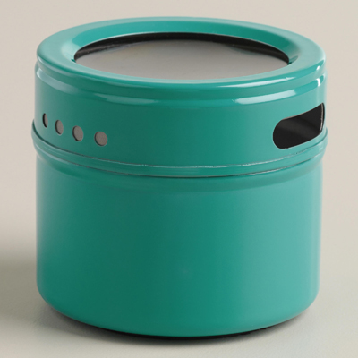 Aqua Magnetic Spice Storage Tin