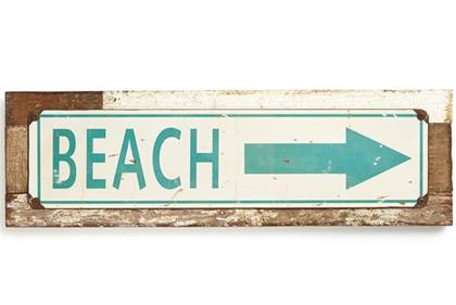 Beach Arrow Sign