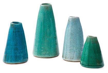 Blue Green Terracotta Vases