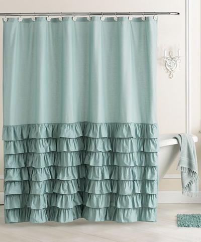 Conrad Ella Ruffle Fabric Shower Curtain