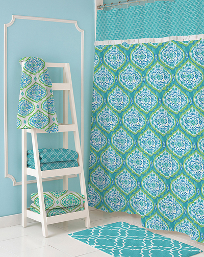 Dena Home Tangier Shower Curtain and Hooks