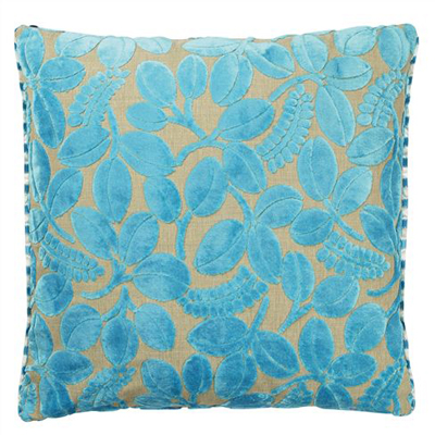 Designers Guild Calaggio Turquoise Throw Pillow