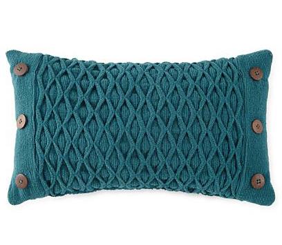 Diamond Woven Oblong Decorative Pillow