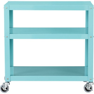 Go-Cart Aqua Three-Shelf Table