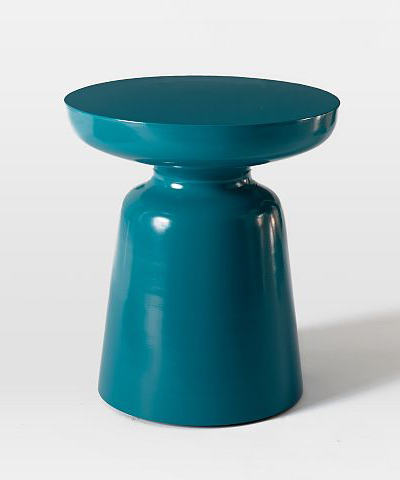 martini side table is as cool and crisp as its namesake cocktail