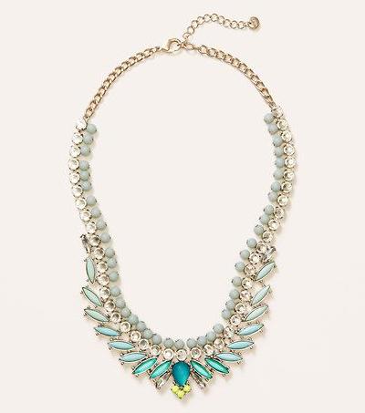 Short Ombre Aqua Stone Necklace