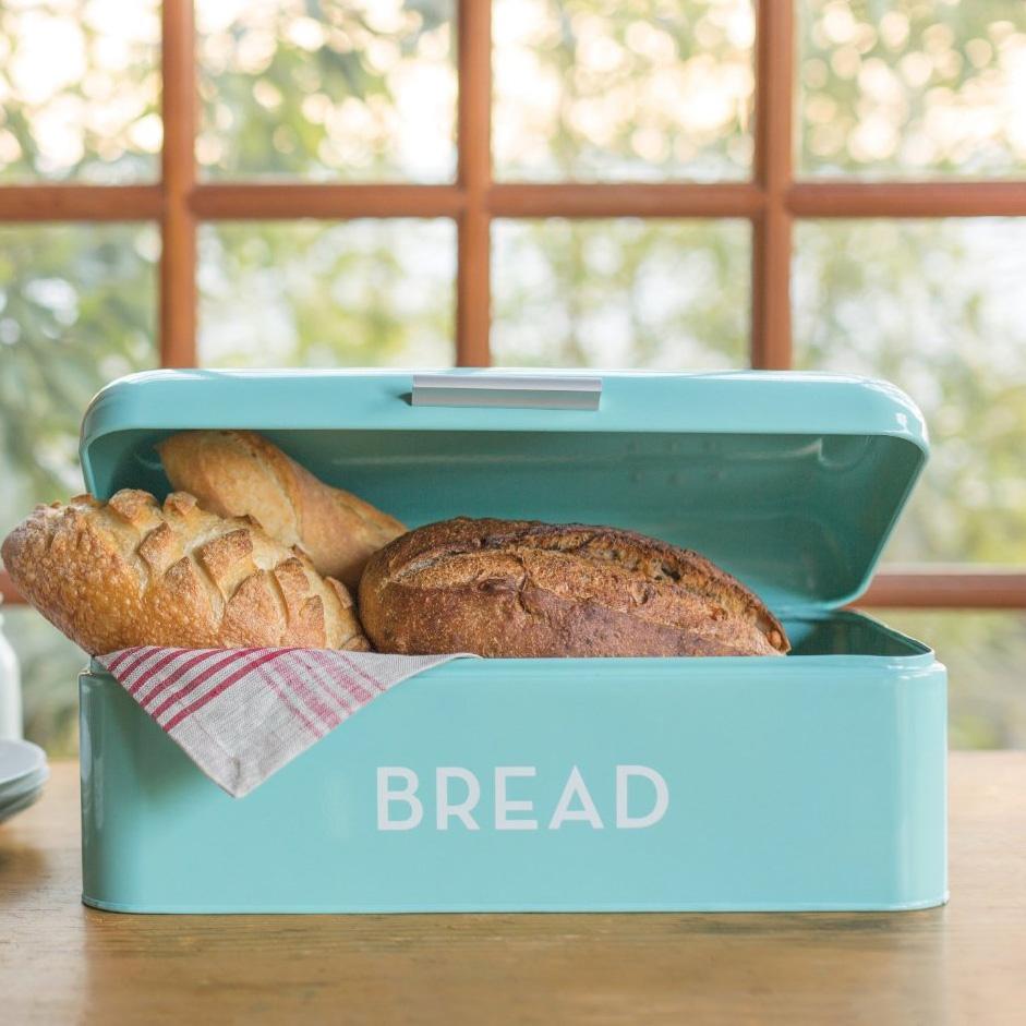 Turquoise Blue Bread Bin