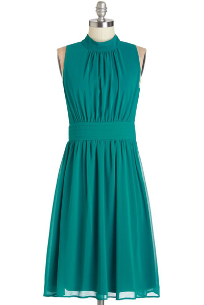 Windy City Dress in Teal