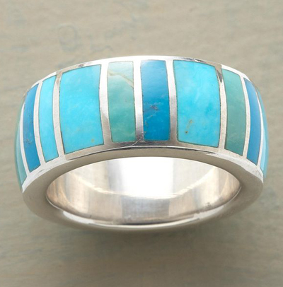 Blue Green Palette Ring