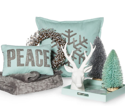 Holiday Cool Color Home Decor Collection