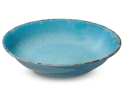 Rustic Turquoise Melamine Serving Bowl